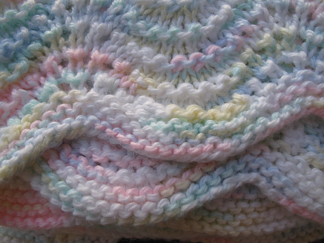 Lullaby Lass Hand-Knitted Ripple Baby Blanket / Afghan Flickr - Photo Sharing!