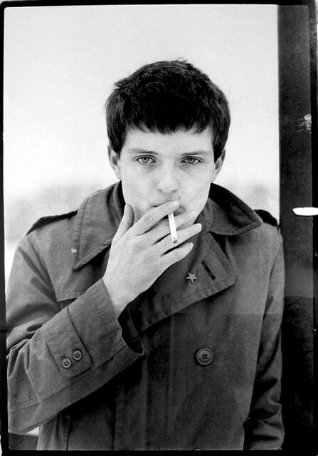 Ian Curtis, by Kevin Cummins
