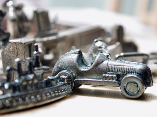 Monopoly Pieces, old and new