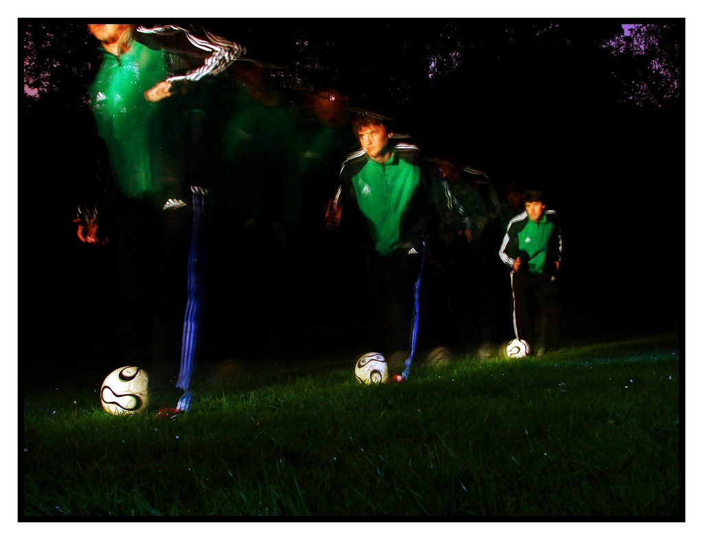 Football Long Exposure (Like the One In The Lucozade Advert)