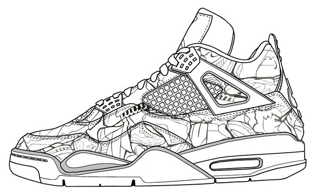 kd nike shoes coloring pages - photo#9