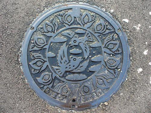 Imazu Shiga,manhole cover(滋賀県今津町のマンホール)
