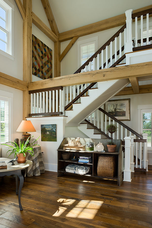modern meets country stairway