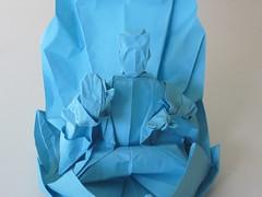 flower(0.0), cobalt blue(0.0), petal(0.0), art(1.0), origami(1.0), aqua(1.0), turquoise(1.0), teal(1.0), azure(1.0), origami paper(1.0), blue(1.0),