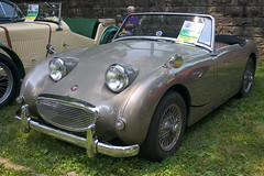 automobile, vehicle, antique car, austin-healey sprite, classic car, vintage car, land vehicle, coupã©, convertible,