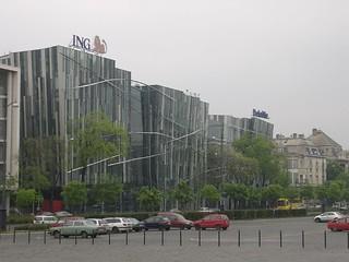 Image of ING Building. park hungary budapest pest hongarije varosliget hosoktere