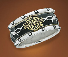 Harley Davidson Rumble & Roll Men's Ring