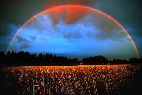 field suomi finland rainbow d200 hdr sateenkaari hollola pelto tokinaatx12244