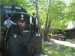 Switching Ends of the Train in Farner, Tennessee