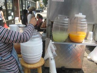 horchata limon naranja