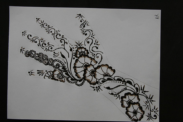 Mehndi Patterns Easy On Paper : Arabian mehndi designs design on paper