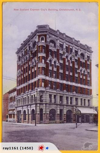 NZ Express Building Postcard