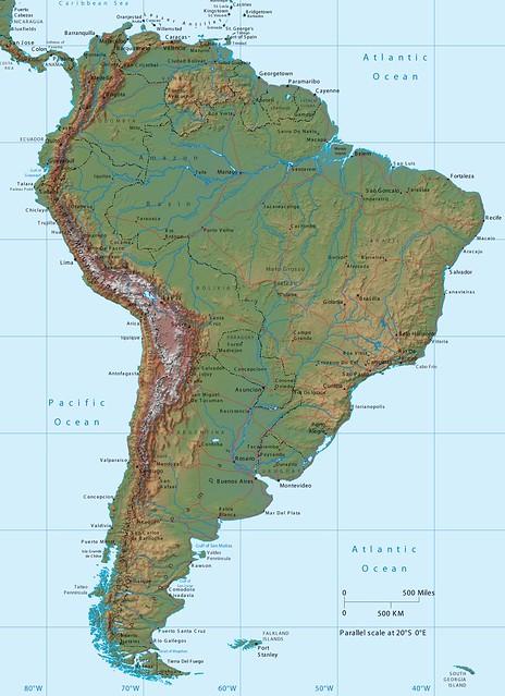 Mapa de Am rica del Sur mapa da Am rica do Sul map of South America Flic
