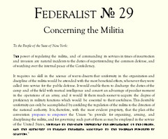 Which individual helped write the federalist papers