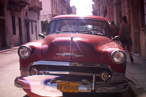 Classic american car on the streets on Havana