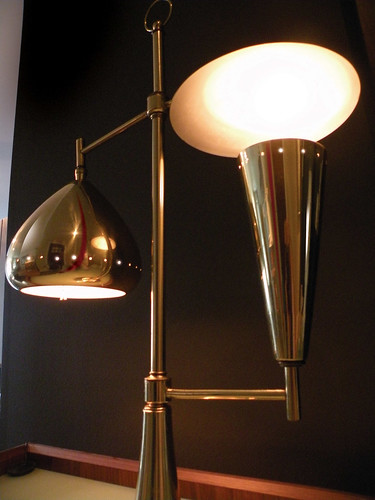 unusual mid-century lamp