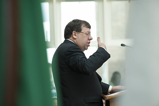 Taoiseach Brian Cowen speaking at the opening of the New C