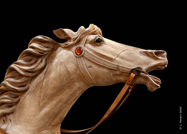 CAROUSEL HORSE - MICHAEL KORTAN WOOD SCULPTURE