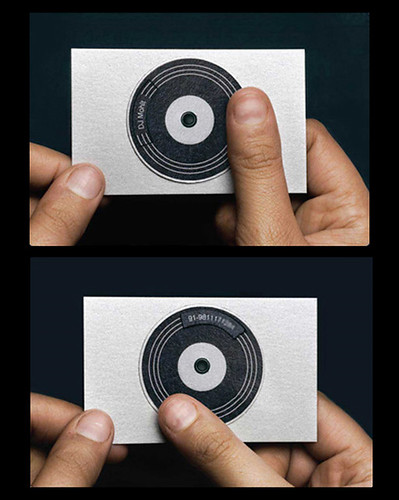 DJ Mohit's turntable business card