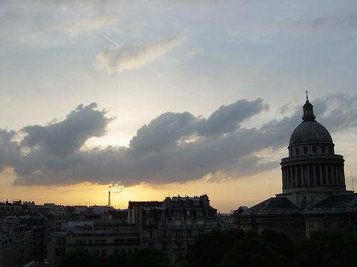 pantheon sunset