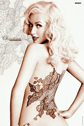 Lace Tattoo Christina Aguilera