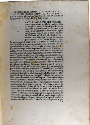 Opening page of text from Historiae Florentini populi, Sp Coll Hunterian Be.2.8 (item 1).