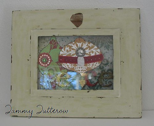 Fruit Cake Shadow Box Frame: Peace