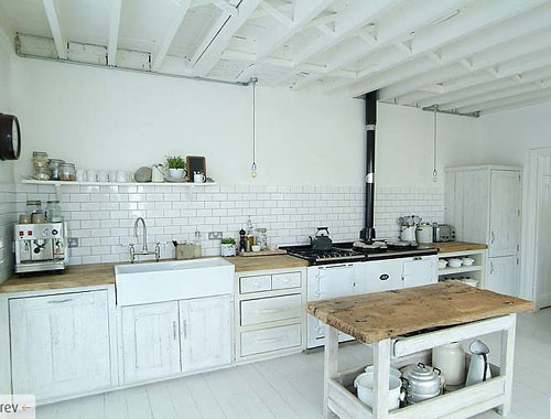 kitchen in victorian home in london