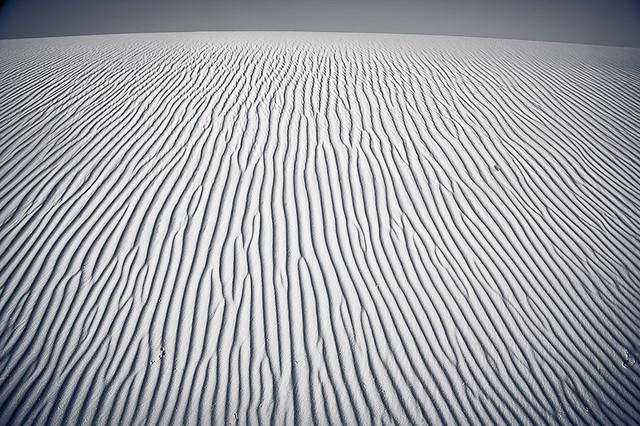 White sand everywhere...