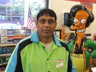 """Apu"" at the Seattle Kwik-E-Mart"