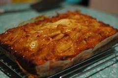 produce(0.0), baked goods(1.0), moussaka(1.0), food(1.0), dish(1.0), dessert(1.0), cuisine(1.0), lasagne(1.0),