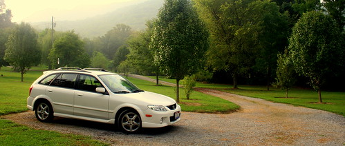 morning usa white mountain slr car digital sunrise canon geotagged rebel early haze cabin honeymoon married tennessee dslr mazda canonrebelxt protege5 smokymountains sevierville highvalleyrentals