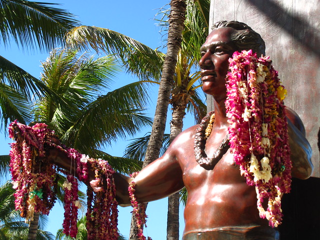Duke Kahanamoku Statue at Waikiki