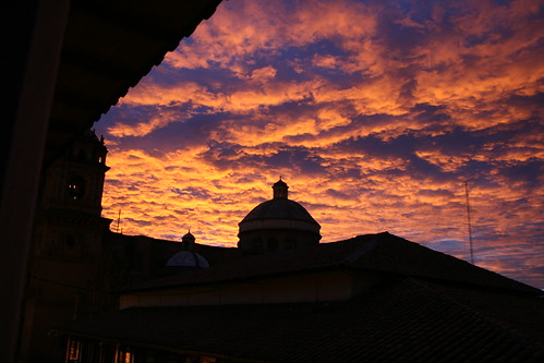 peru silhouette sunrise cusco
