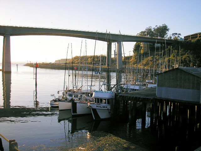 Noyo harbor bridge and fishing boats flickr photo sharing for Fort bragg fishing charters