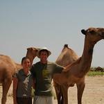 Dan and Audrey with Camels - Gonur Depe, Turkmenistan