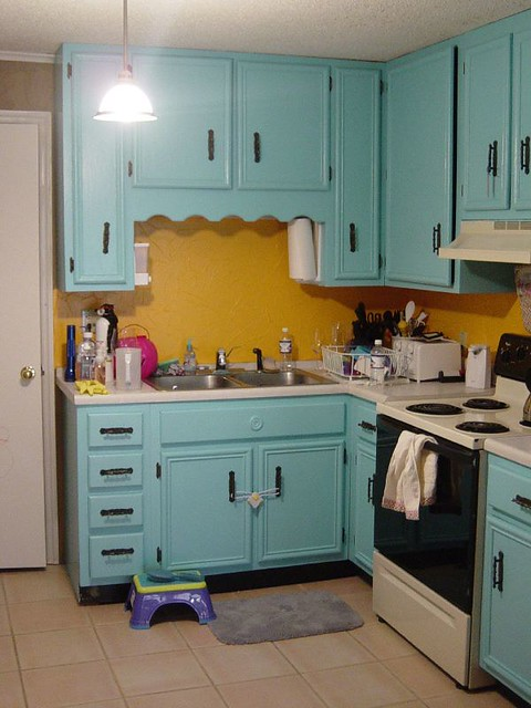 old kitchen east turquoise yellow flickr photo sharing