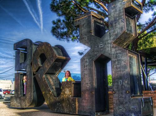 sky tree sign metal kids industrial rusty bex lancaster hdr blvd