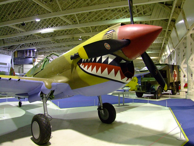 Plane Shark Mouth WW2 http://www.flickr.com/photos/elsie/4606853845/