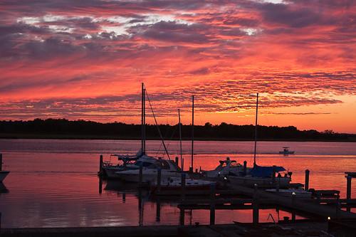 sunset marina boats southcarolina ashleyriver