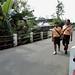 Mereka harus berjalan hampir 1 km untuk bisa mengakses angkutan umum : They have to walk almost a km to access public transportation. photo credit by Ardian