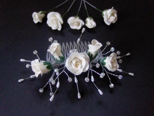 Preloved Flower Girl Baskets : Bridesmaid headresses dresses