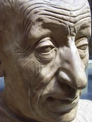Plaster cast of head