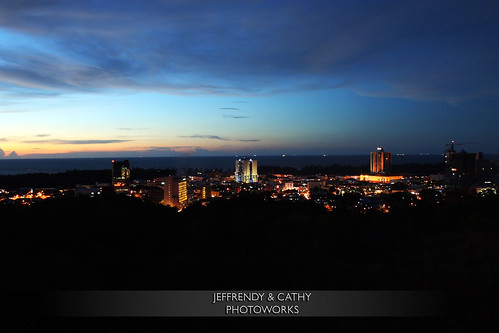 sunset canada canon landscape cityscape view hill miri