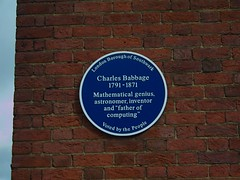 Photo of Charles Babbage blue plaque