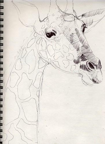Sketchbook: Funky Giraffe