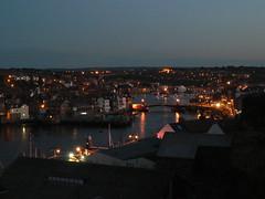 Whitby at dusk