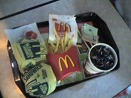 Eating McDonald's