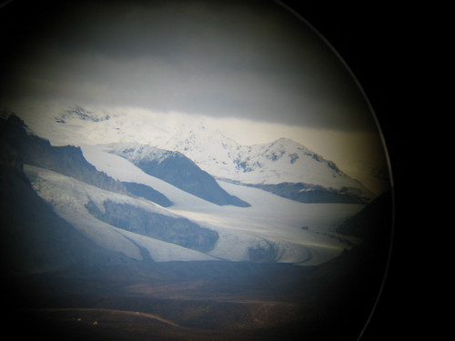 Another glacier through binoculars