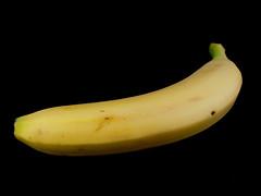 Banana - Isolated black